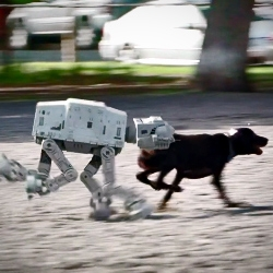 AT-AT Day Afternoon by Patrick Boivin. Two things he wanted badly and never got... A real dog and a Kenner AT-AT Walker.