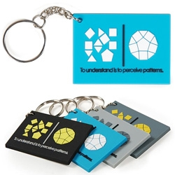 "Oooh ""To understand is to perceive patterns"" is now a keychain!"