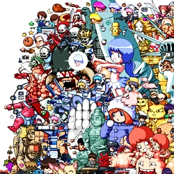 "Pixel artist Paul Robertson, creates a bizarre, ""joyful mess"" which is infused with manga, anime and pop culture themes..."