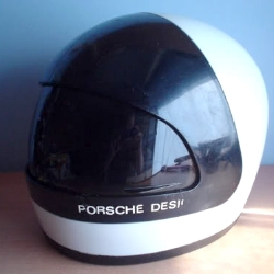 Vintage Porsche Design motorcycle helmet found on eBay. Love the Space Race influence from the late 70's.