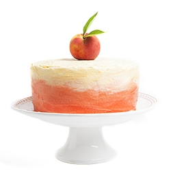 A Peach Layer Cake, in time for peach season.