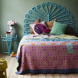 Rattan peacock headboards are a stylish design trend in Australia...