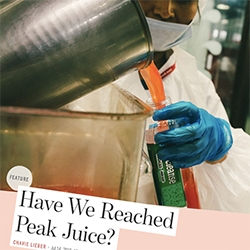 """""""Have we reached peak juice?"""" - Nice article on Racked examining the over saturated cold pressed juice market. Interesting to see where some think they can grow (food!) and why others are starting to disappear."""