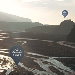 Outdoor sports brand, Peak Performance, opens virtual outdoor pop-up shops in remote places open only at magic hours before sunrise and sunset.
