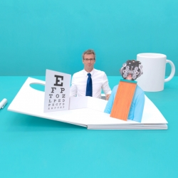 Directors Lernert & Sander from Amsterdam made three commercials for Pearle Opticians using life-size pop-up books.