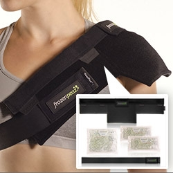 FrozenPeaz ~ flexible, modular, hot/cold therapy! So many options/configurations for every joint/muscle soreness possible.