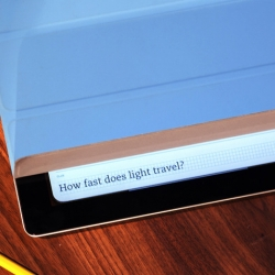 Evernote's Peek app uses the iPad 2's Smart Cover as an integral part of its user experience.