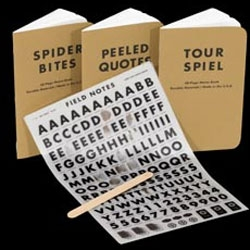 """FIELD NOTES COLORS: DRY TRANSFER """"________ EDITION"""" ~ What can i say, who doesn't love dry transfers letrasets?"""
