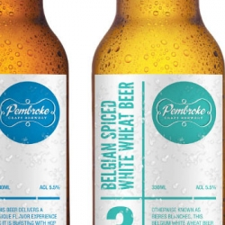 Lovely fresh packaging for Pembroke Craft Brewery.