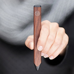 Fiftythree (home of the Paper app) finally released their first product: Pencil. Each Pencil is milled from a single, solid piece of material. Graphite brushed aluminum or walnut.