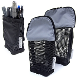 DSPTCH Pencil Case - lightweight nylon and coated mesh made to stand on their own and zip up when you're on the go.