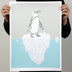The first in a series of limited edition prints of animals made from vintage letraset type from Portland artist Marcus Fischer.  A portion of the proceeds will go to a related charity.