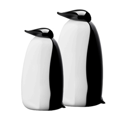iittala + Oiva Toikka 'Ping' blown glass penguin figurine.