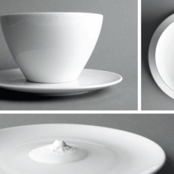 This sleek coffee-cup has a secret.