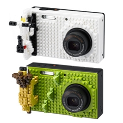 Pentax Optio cameras x Nanoblock.