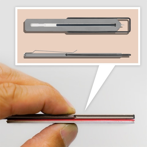 The Pen Type-C from CW&T is here, and it's a mere 3 credit cards thick! A titanium bookmark pen with a detachable clip... and an addictively fun flip-to-open action.