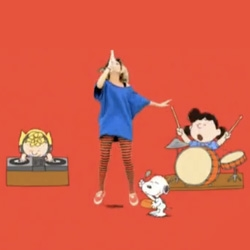 On adorable ads that get stuck in your head - Hot Pepper ad with J-pop star Kaela Kimura and the Peanuts gang...
