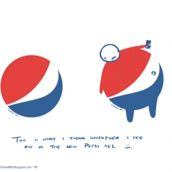 An interesting and hilarious interpretation of Pepsi's new logo.