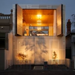 The architects at Kavellaris Urban Design (KUD) have designed the Perforated House in Melbourne, Australia.
