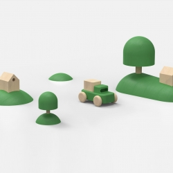 Heartland, a set of wooden toys designed by Norwegian designers Permafrost, was released at the International Contemporary Furniture Fair in NYC