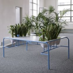 "Julio Radesca de Carvalho, a recent graduate of the Design Academy Eindhoven, has created a desk that he has named ""Personal Fresh Air."""