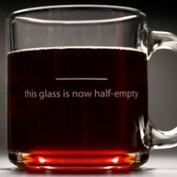 Despair, Inc. is proud to introduce The Pessimist's Mug. This crystal-clear mug will help all who drink from it to Stay Grounded by forever reminding them to see when the glass is half-empty.