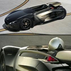 Peugeot 'EX1' electric concept car.