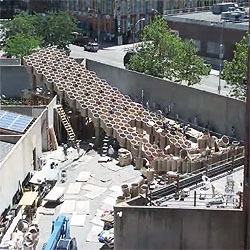 Cool video of the Public Farm 1 @ PS1 in NY construction in stop motion.