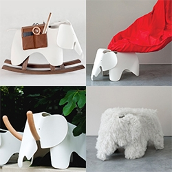 designjunction presents 'A Child's Dream' in partnership with vitra! 21 designers/architects take on the Eames Elephant in amazing ways - see the herd!