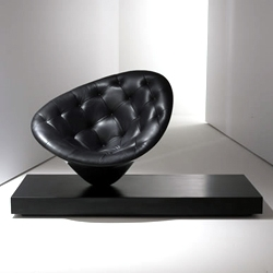Sculptural 'Moore' armchair by Philippe Starck for Driade.
