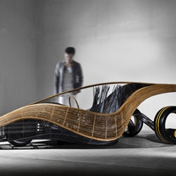 This concept car by Kenneth Cobonpue may not ever grace our roads, but is a tantalizing glimpse of material versatility.