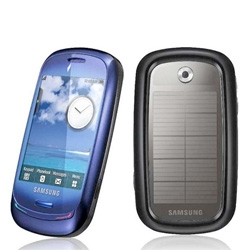 The new eco-friendly Samsung Blue-Earth. It features a solar panel and it's made of recycled plastic.