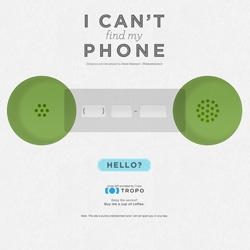 I Can't Find My Phone ~ a site to help you... find your phone!