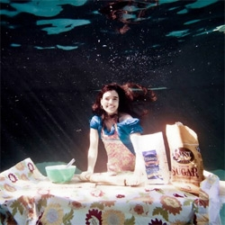 Kitchen Corners has an underwater cooking photo shoot
