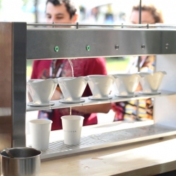 Poursteady, a beautifully designed, automated pour-over coffee machine.