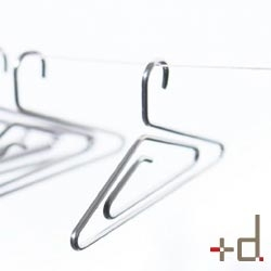 I wish +D had a non-japanese shop, so I could get some of their brilliant designs, like the PhotoHangers, which are paperclip sized hanger for pictures and more.