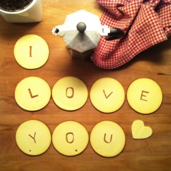 Lynton Pepper's literally cheesy Valentines Day message to his girlfriend cut out from Bavarian smoked cheese.