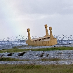 Giant Grand Pianos washed up on the beach. The ulitmate piece of driftwood! Paal 5 by Florentijn Hofman