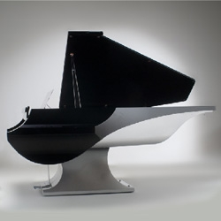 The design relives tradition, modernizing the classic piano. Very cool!  M. Liminal
