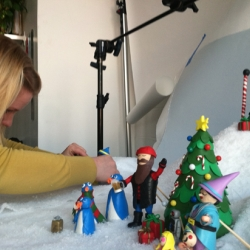 Behind the scenes of UncommonGoods' first holiday claymation marketing email.