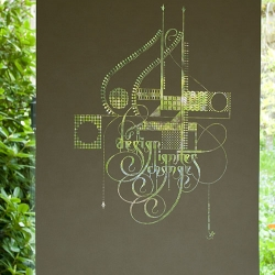 "Incredible new laser-cut poster by Marian Bantjes, ""Design Ignites Change""."