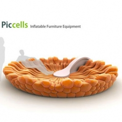 The Piccells is an interesting inflatable furniture by Igor Lobanov from Urals State University of Architecture and Arts Degree Show 2009.