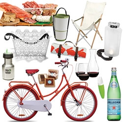 Picnic Super Gift Guide of sorts ~ here are the NOTCOT picks for the dream romantic bike ride picnic, luxurious drive picnic, picnic with the kids, and picnic under the stars!
