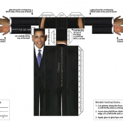 Fold US Candidate lets you download your very own do-it-yourself finger-puppets of the presidential candidate.  Just download, cut and fold, and have now you have your very own presidential friends to carry around with you.