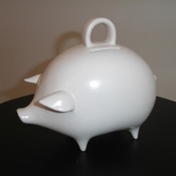 Pamela Barsky has some adorable piggy banks.... love the curves~ [editor's note: previously seen as #677]