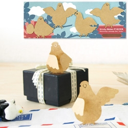 Adorable sticky note pigeons!