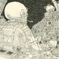 Mattias Adolfsson experiments with how much detail you can fit into an A3 Size sketchbook