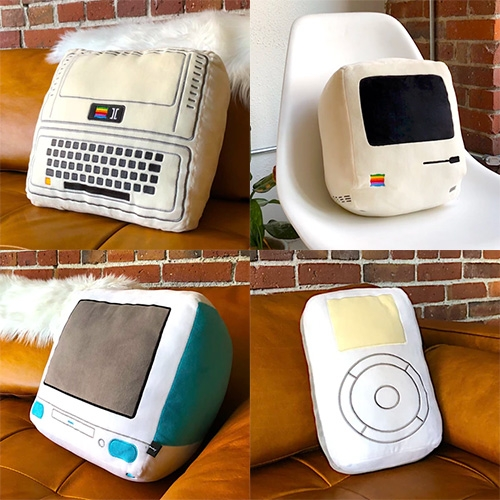 The Iconic Pillow Collection by Throwboy on Kickstarter. For anyone that ever wanted cuddly pillow versions of classic Apple products.