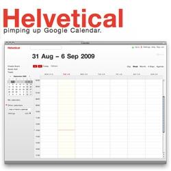 Oooh helvetical now takes on Google Calendar ~
