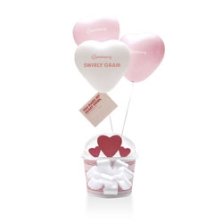 Valentine's Swirly Grams from Pinkberry!